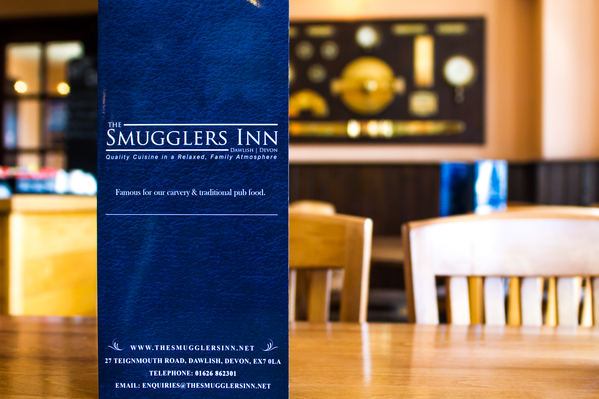 View The Smugglers Inn Menu