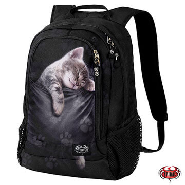 Spiral Direct - Shoulder bag with cat  design on front