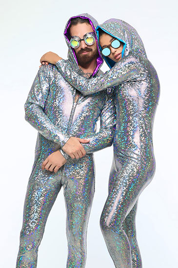 Silver, holographic Onesies by Sea Dragon Studios