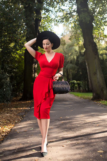 The Seamstress of Bloomsbury Autumn Winter 2019 Collection: Lilian Dress in 40's Red