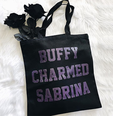 Black  'Buffy Charmed Sabrina' Bag