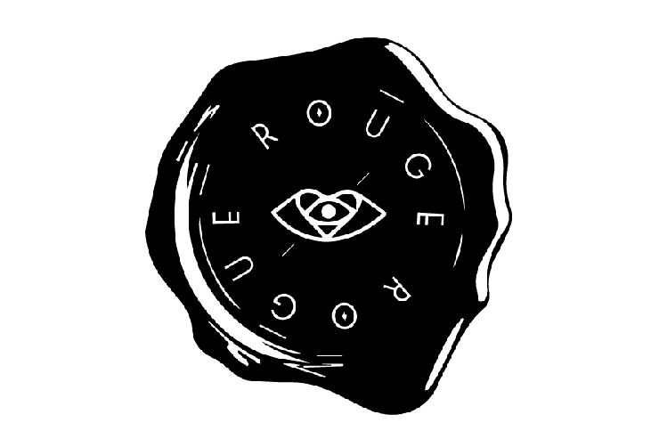 Rouge & Rogue Make-up - Logo designed like wax seal