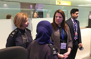 Immigration minister visits Heathrow Airport