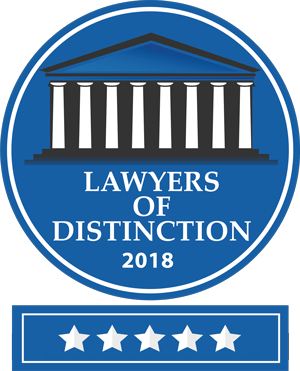 Jerry Jacobson earn a badge of distinction for his work on personal injury claims