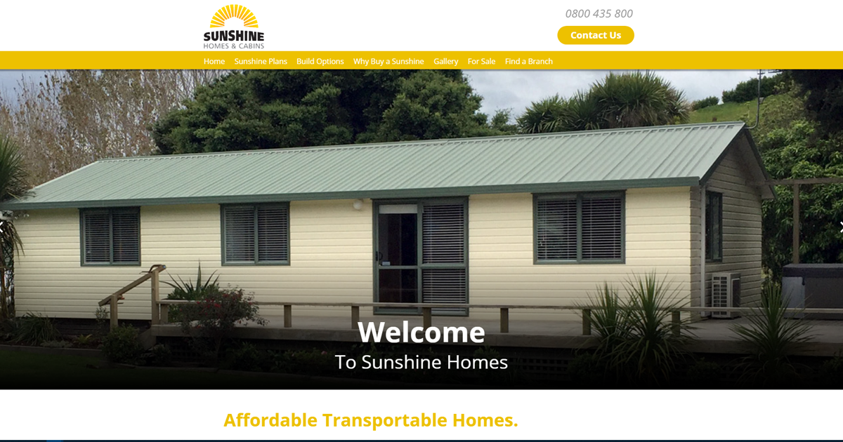 Stupendous Sunshine Homes Cabins Affordable Transportable Tiny Home Interior And Landscaping Synyenasavecom