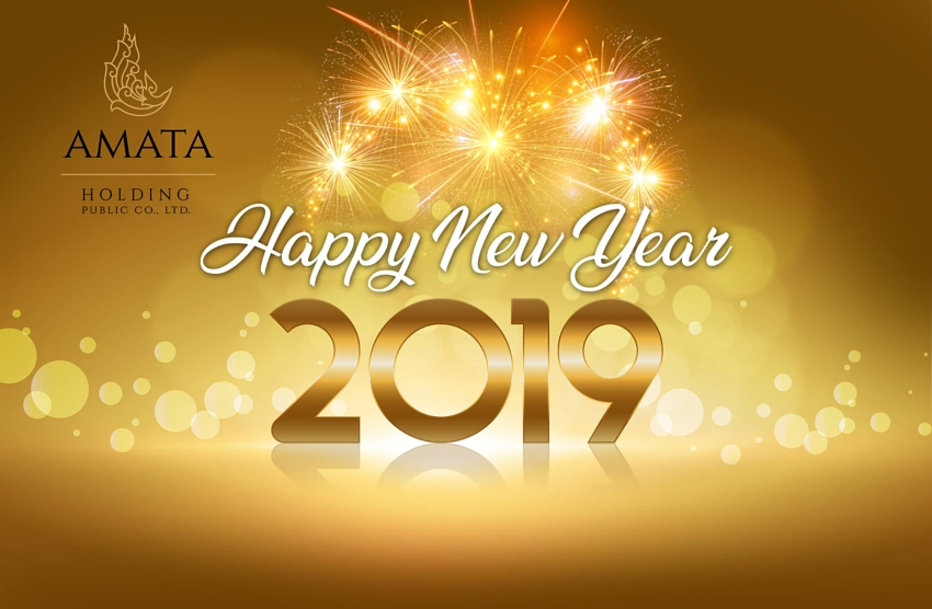 Amata Holding wishes you a happy new year 2019.