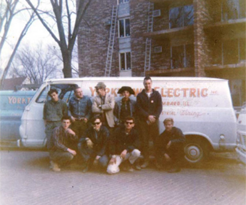 Picture of Oakwood Electric Electricians in 1959