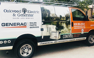 Oakwood Electric & Generator Service Van