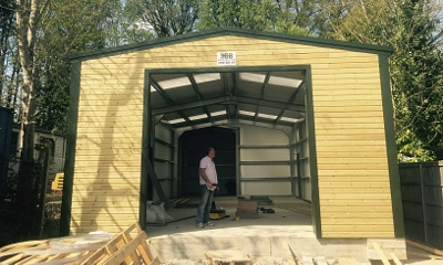 Timber Cladding Options for Steel Framed Garages and Workshop