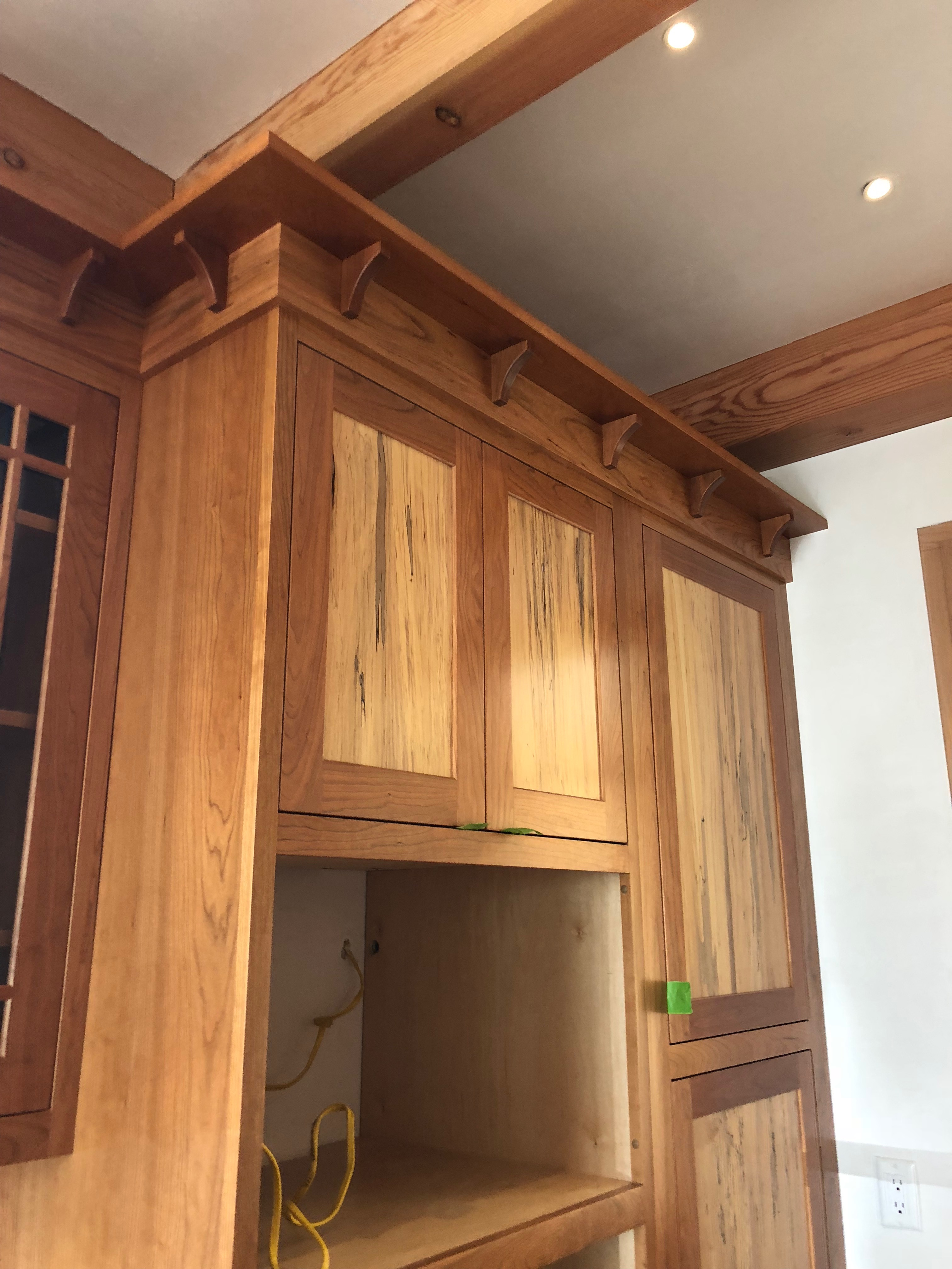 Log Cabin Cabinets design and Build Newton Massachusetts