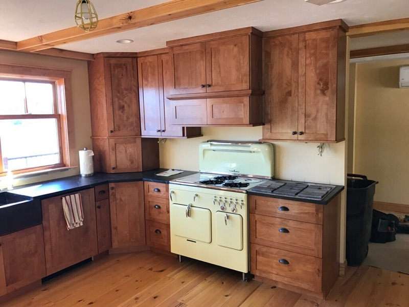 Log Cabin Cabinets design and Build Westford Massachusetts