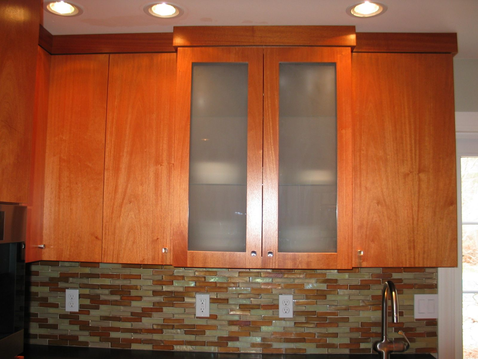 Custom Maple and Cherry Kitchen Cabinets Bolton MA