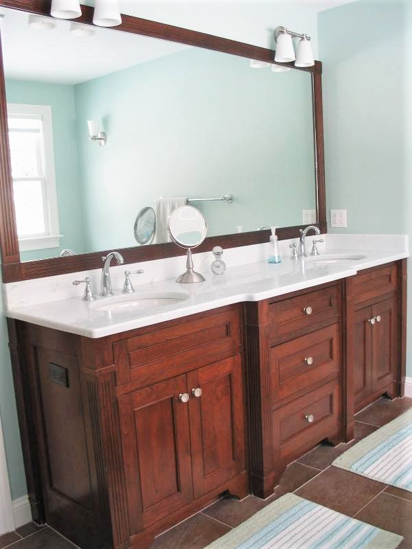 Custom Bathroom Woodwokring Loeminster Massachusetts