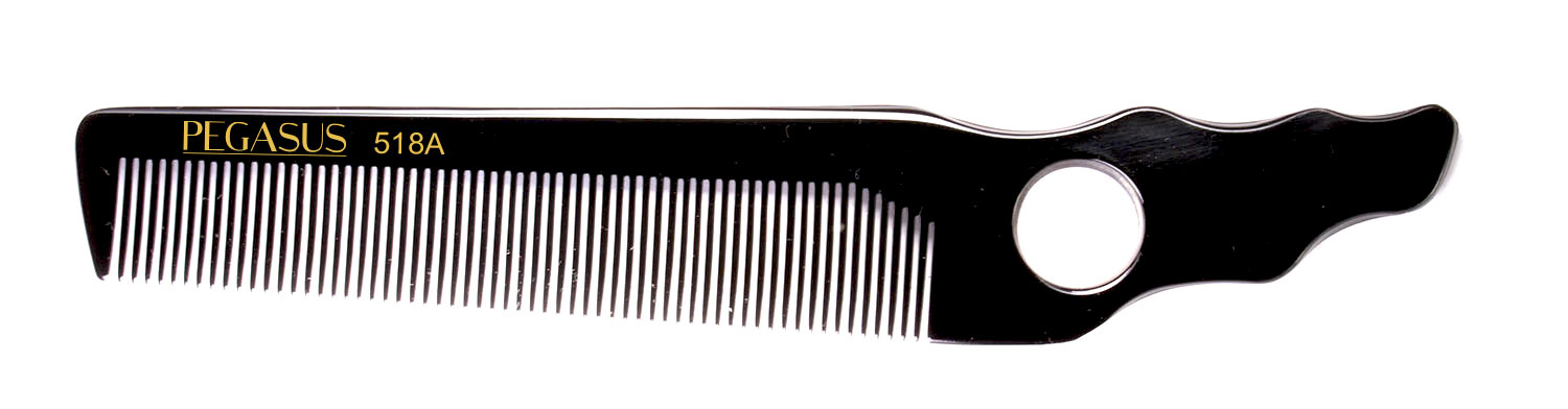 No. 502 Pegasus Hard Rubber Combs - Krest Combs