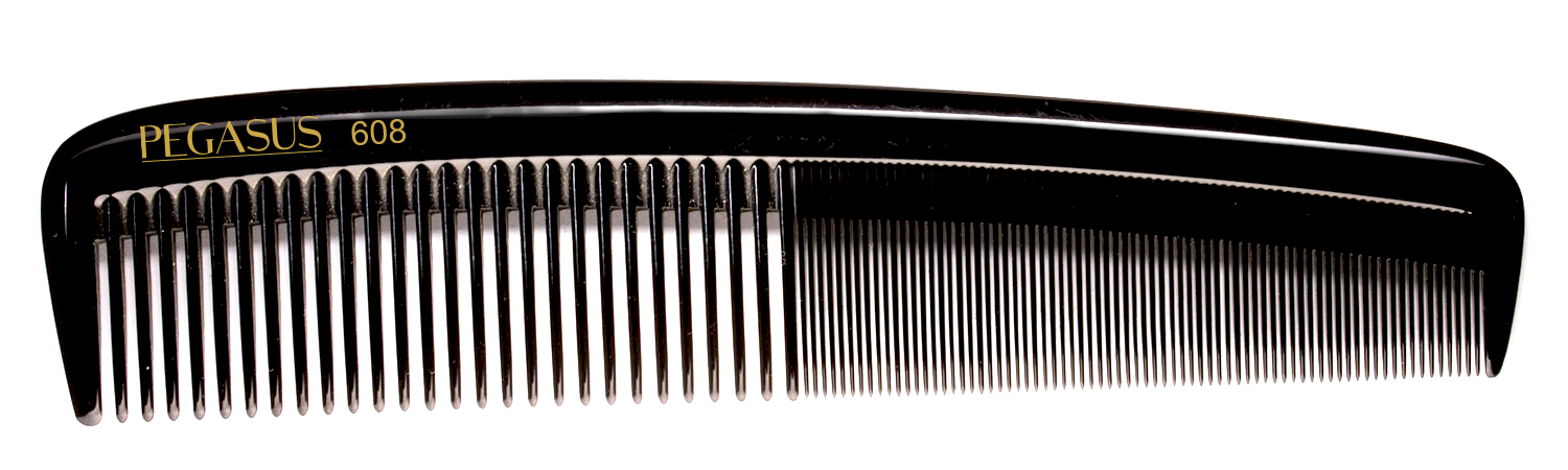 No. 608 Pegasus Hard Rubber Combs - Krest Combs