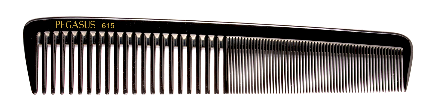 No. 615 Pegasus Hard Rubber Combs - Krest Combs