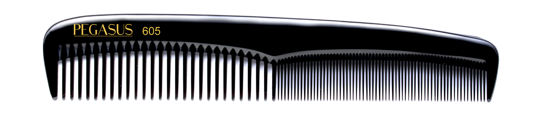 No. 605 Pegasus Hard Rubber Combs - Krest Combs