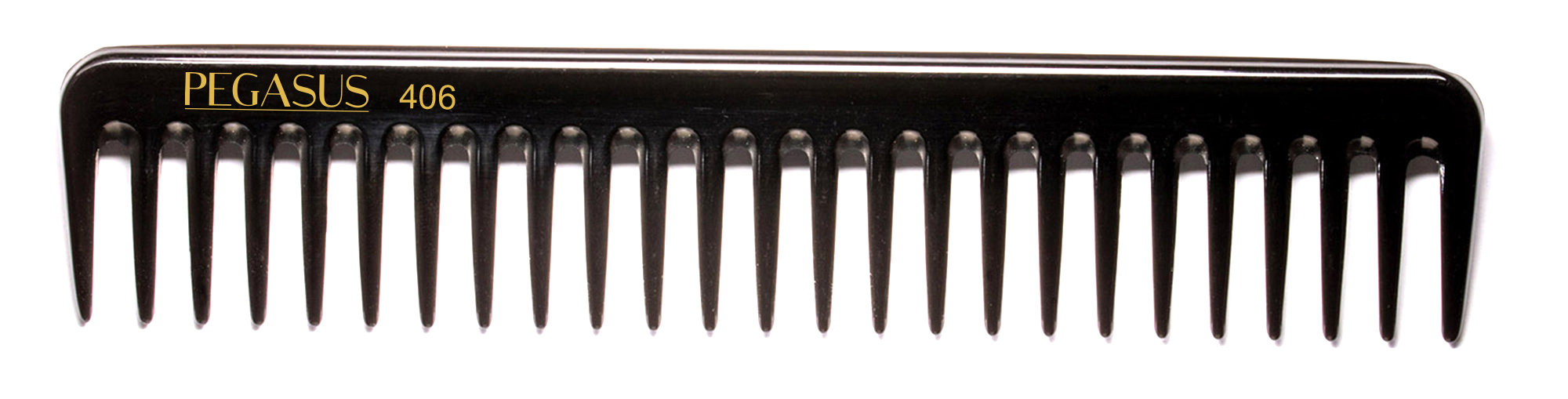 No. 406 Pegasus Hard Rubber Combs - Krest Combs