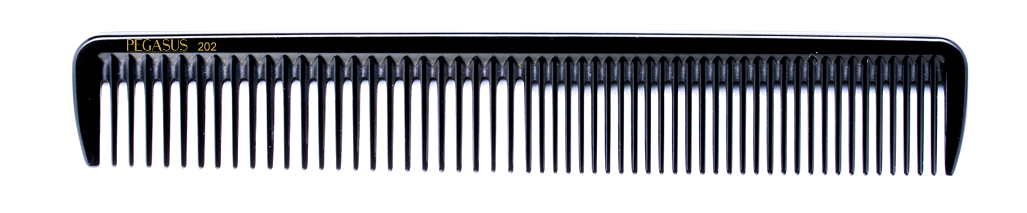 No. 202 Pegasus Hard Rubber Combs - Krest Combs