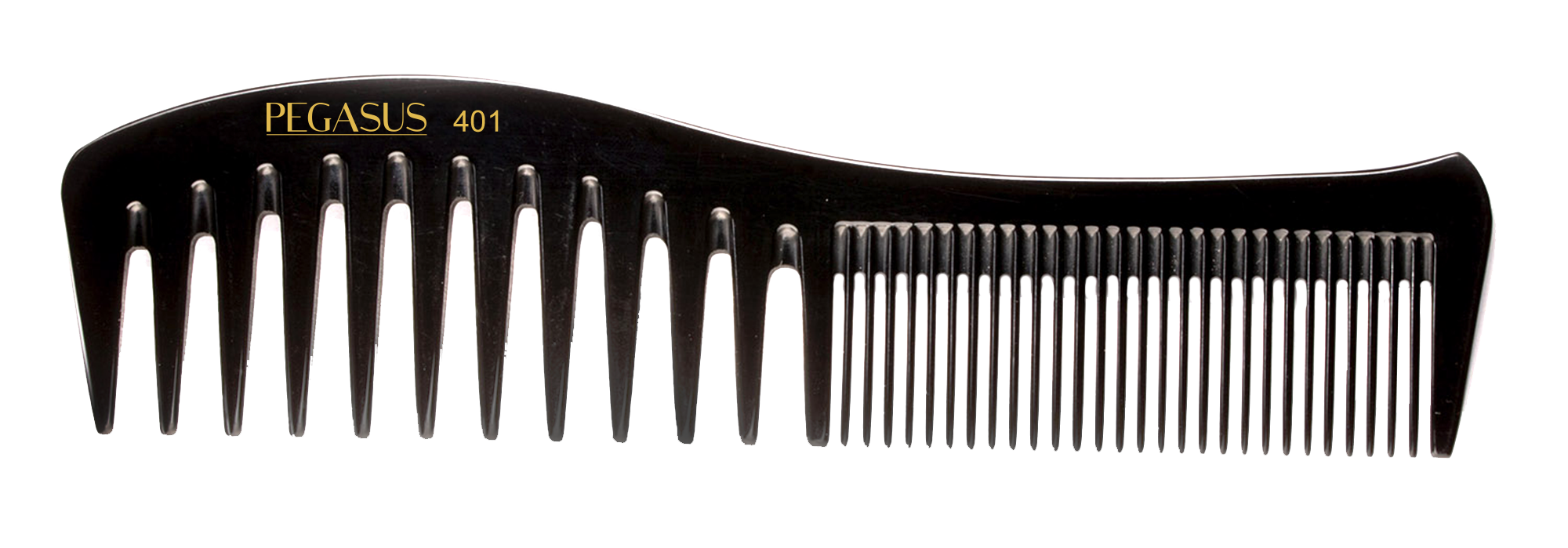 No. 401 Pegasus Hard Rubber Combs - Krest Combs