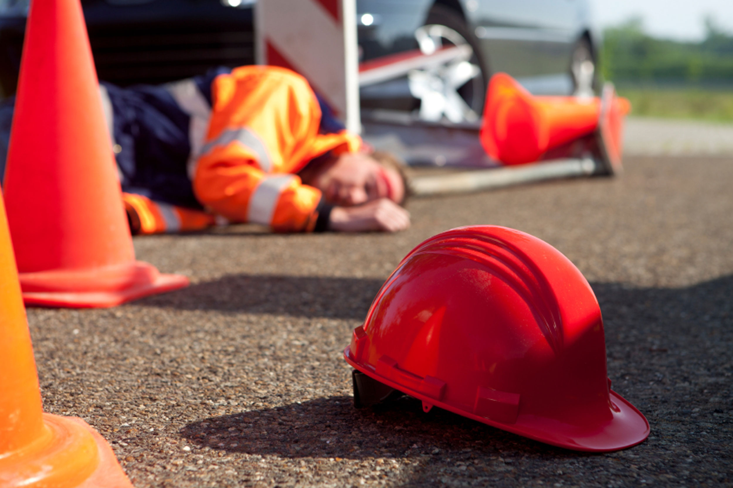 construction worker fell to the ground after injuries worsened by a pre-existing condition