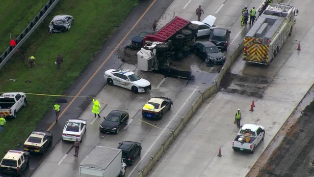 Two Dead and 7 Injured After Dump Truck Accident on I-75, Florida