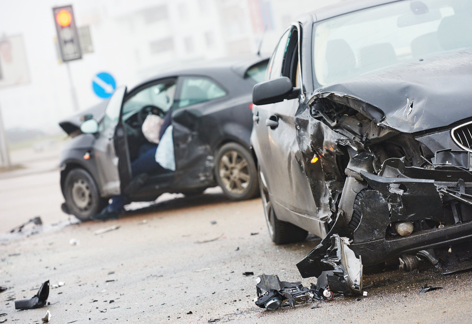 damage cars after a car accident