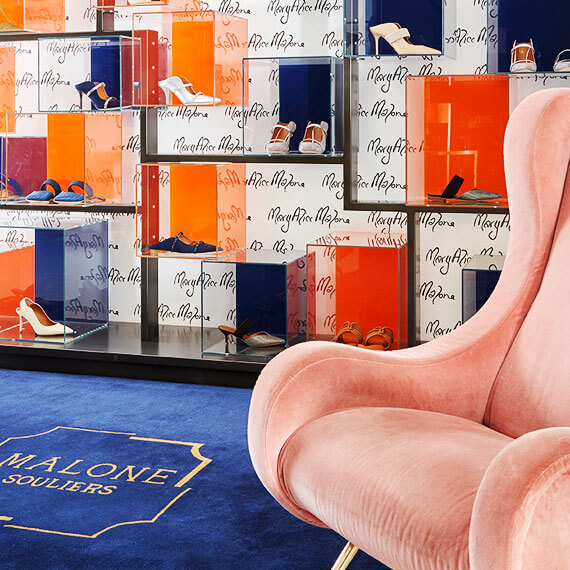 Maolone Souliers retail interior display