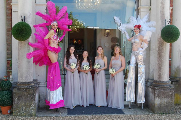Circus-Antics-Wedding-Showgirl-stiltwalkers