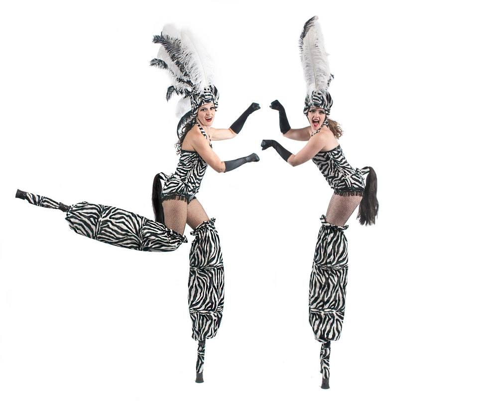 Zebra - Stilt Walkers