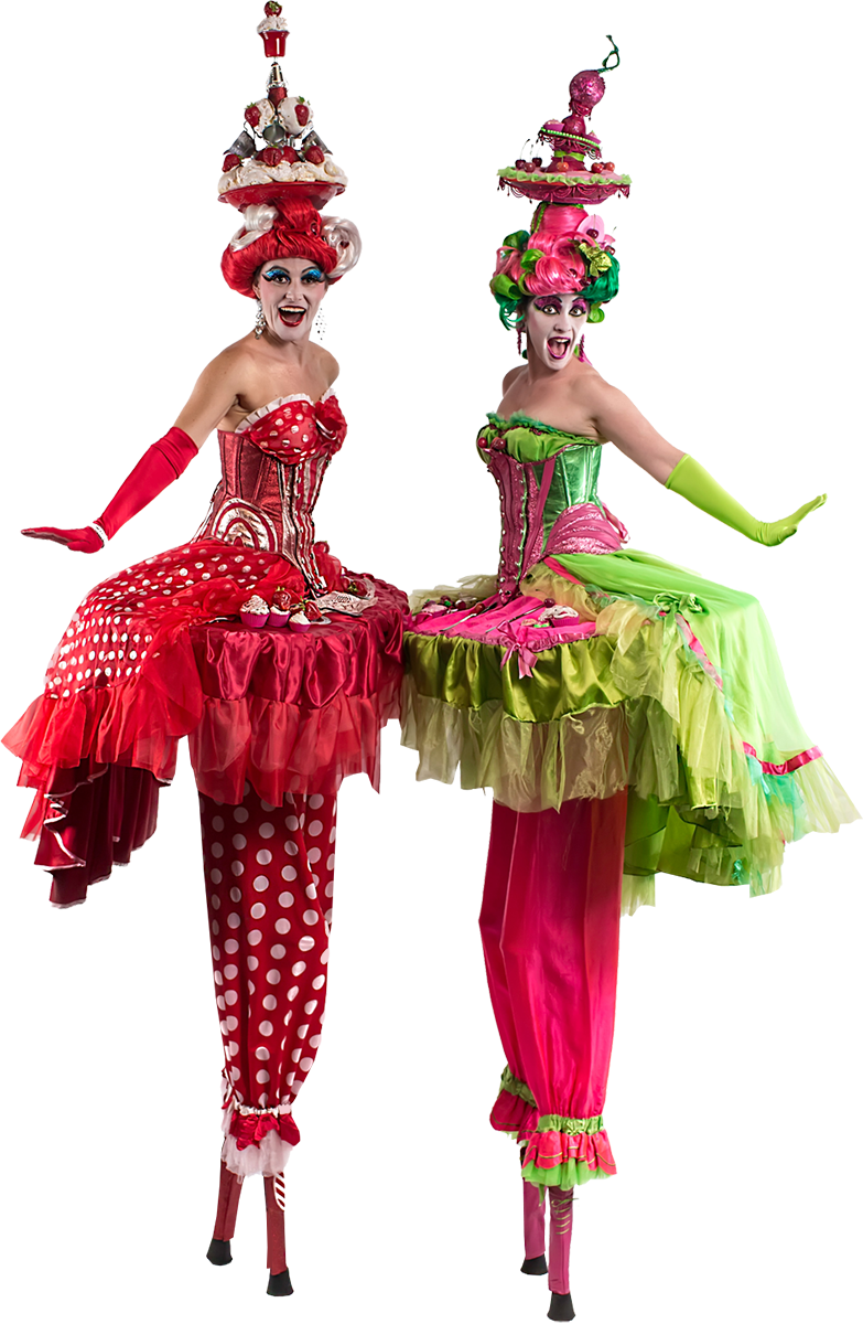The Cake Ladies - Stilt Walkers