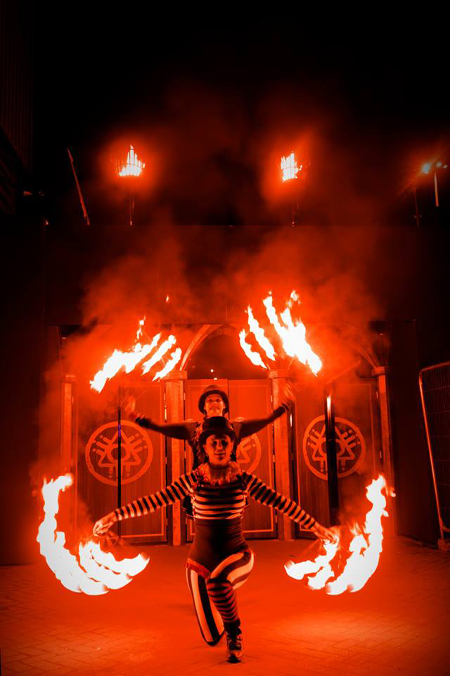 Fire Performers Duo Show
