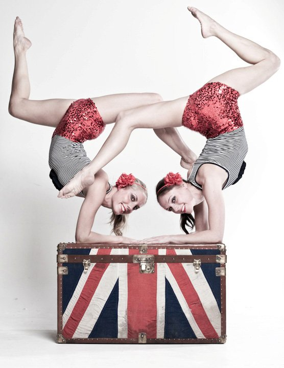 British Themed Contortion Duo