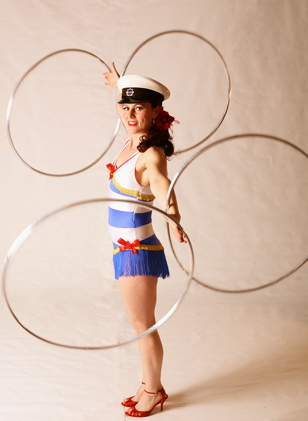 Hula Hoop Sailor Girl
