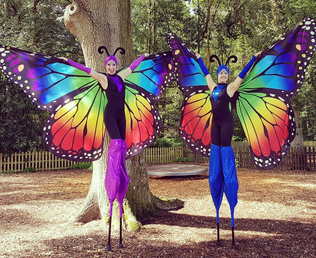 Stilt Walking Butterflys
