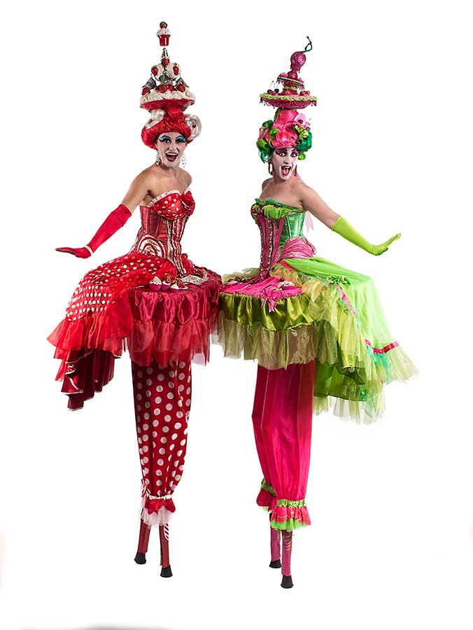 Circus-Antics-Food-The-Cake-Ladies-Stiltwalkers