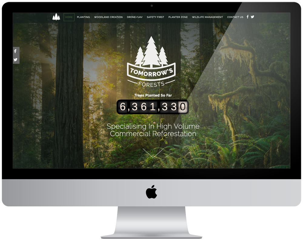 Tomorrow's Forests | Responsive Website