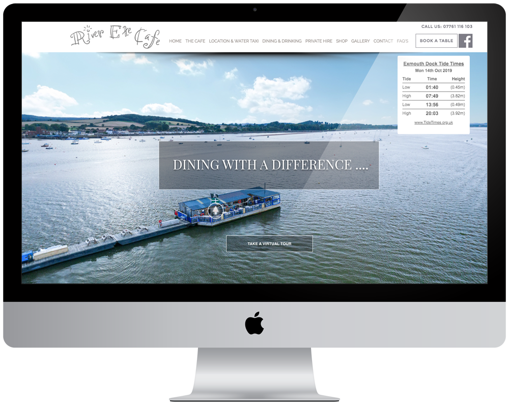 River Exe Cafe | Responsive Website
