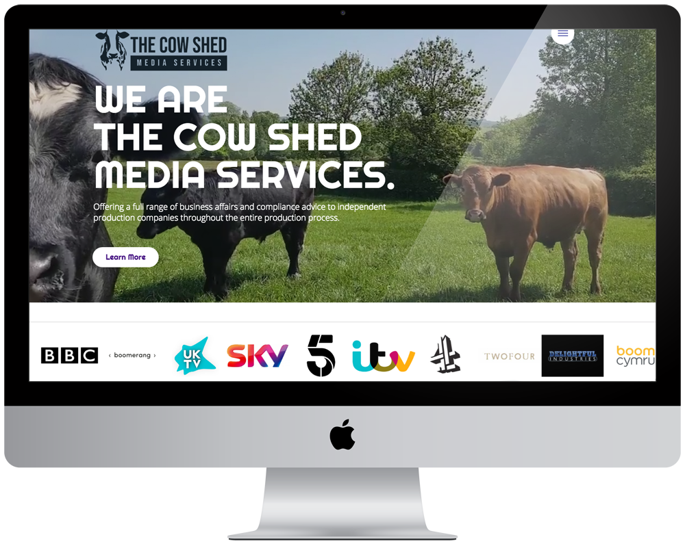 The Cow Shed Media | Responsive Website