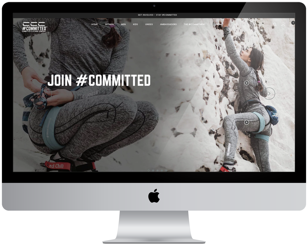 Committed Clothing Company | Responsive Website