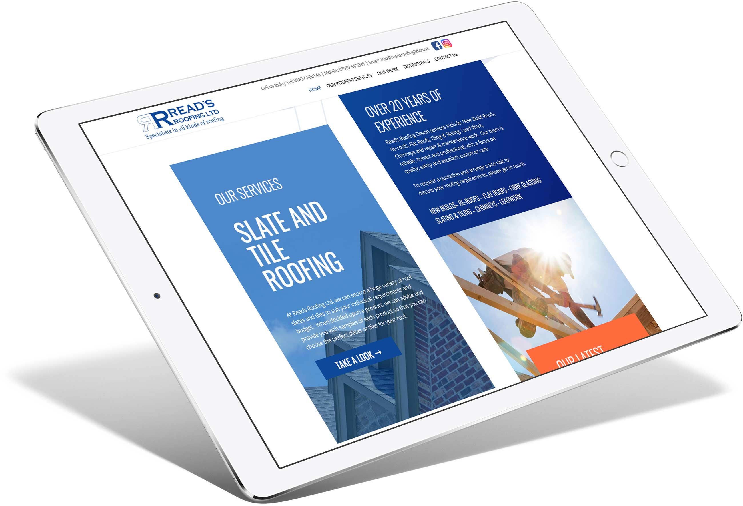 Read's Roofing | Responsive Website